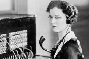 Celebrates the world of telephone operators. It was a very important job for many decades. Today, the position has been eliminated being replaced by automation in telephone systems. Can you imagine what Emma would think about today's cell phone world!?