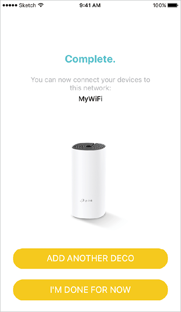 You can add more Mesh WiFi units to expand Wi-Fi coverage. The app will guide you through the process of adding more, one by one.