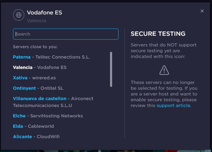 Server = Valencia – Vodafone ES