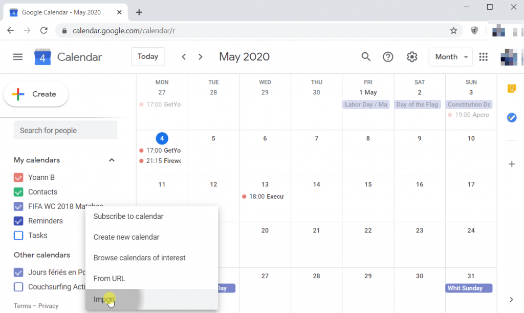 Calendar App for Windows 10
