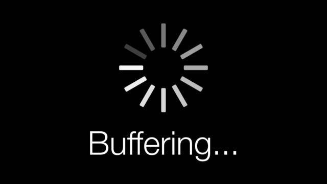 Afbeelding van uw scherm wanneer internet wordt gebufferd