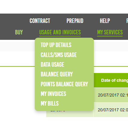 Invoices on www.hitsmobile.es